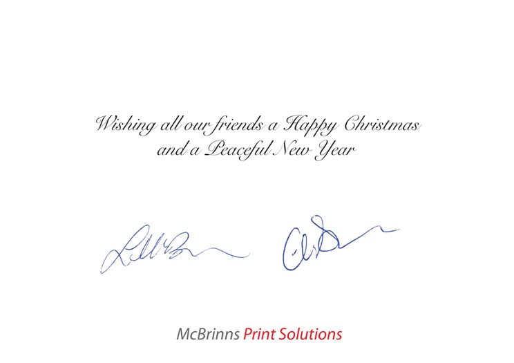 Mcbrinns print solutions quality personalised christmas cards sample4 reheart Images